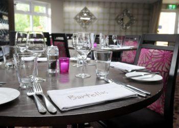 Table setting at Bartellas Restaurant