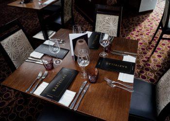 Table set for 4 at Bartellas restaurant