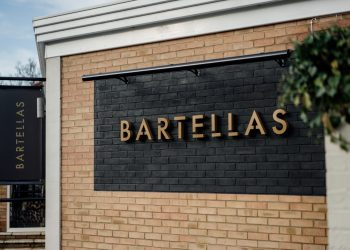 Bartellas restaurant outside sign