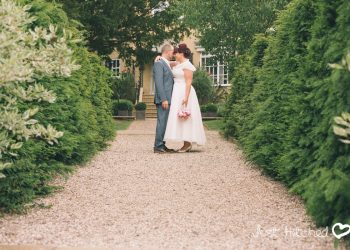 Bride & Groom in the gardens at Ivy Hill Hotel