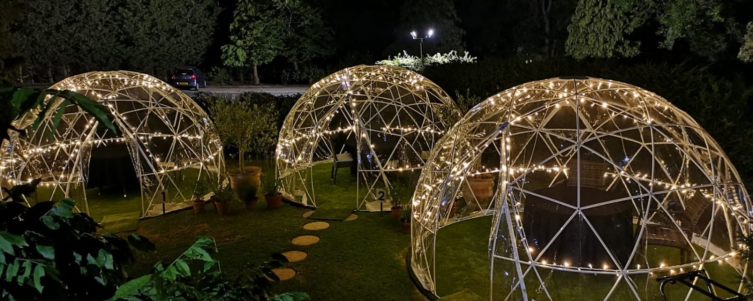 Domes lit up at Ivy Hill Hotel
