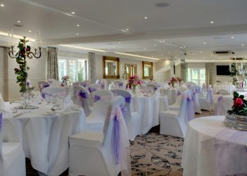 Margaretting Suite wedding with a purple theme at Ivy Hill Hotel