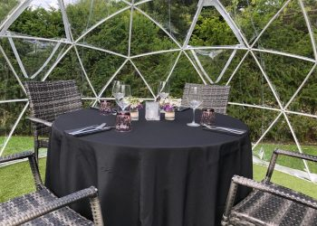 Table set up in our Domes at Ivy Hill Hotel