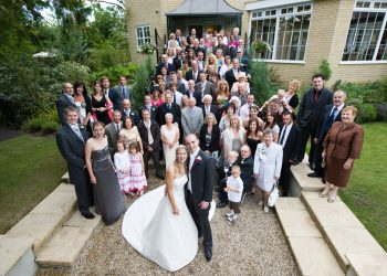 Wedding Party in the gardens at Ivy Hill Hotel