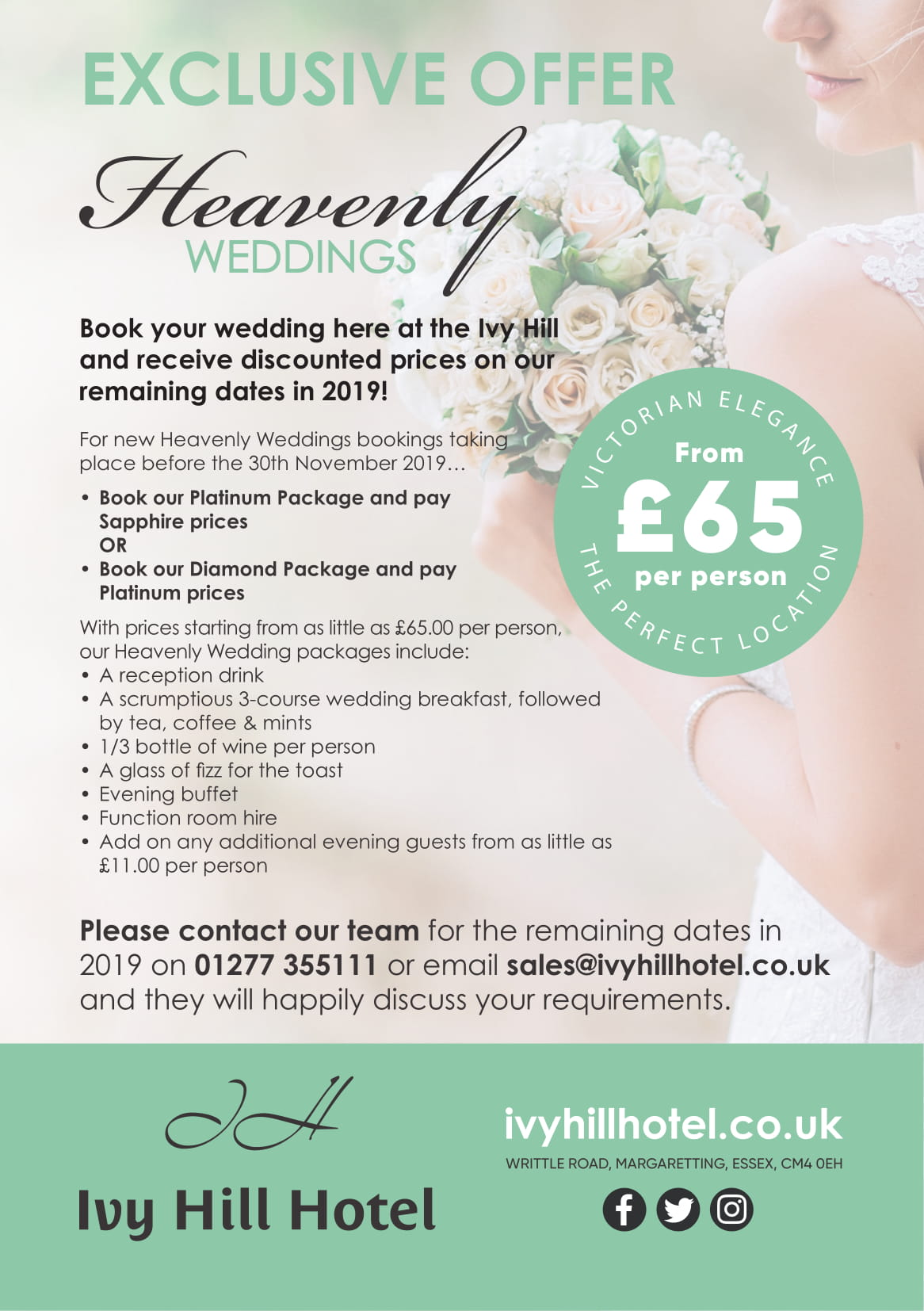 Ivy Hill 2019 Wedding Promotion