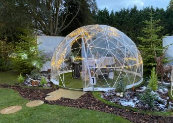 Outside area of Festive Igloo Dome at Ivy Hill Hotel